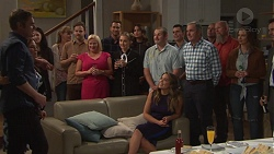 Gary Canning, Terese Willis, Sheila Canning, Mark Brennan, Piper Willis, Elly Conway, Toadie Rebecchi, Jack Callaghan, Karl Kennedy, Amy Williams in Neighbours Episode 7677