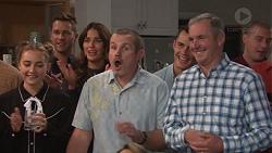 Piper Willis, Mark Brennan, Elly Conway, Toadie Rebecchi, Jack Callaghan, Karl Kennedy in Neighbours Episode 7677