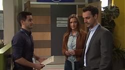 David Tanaka, Amy Williams, Nick Petrides in Neighbours Episode 7677