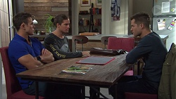 Aaron Brennan, Tyler Brennan, Mark Brennan in Neighbours Episode 7679