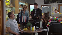 Jack Callaghan, Steph Scully, Ben Kirk, Paige Novak in Neighbours Episode 7679