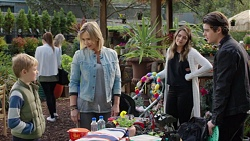 Adam Fitzgerald, Steph Scully, Paige Novak, Ben Kirk in Neighbours Episode 7679