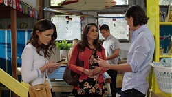 Elly Conway, Dipi Rebecchi, Jack Callahan, Leo Tanaka in Neighbours Episode 7679