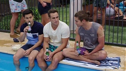 David Tanaka, Aaron Brennan, Tyler Brennan in Neighbours Episode 7679