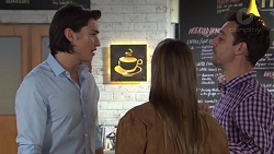 Leo Tanaka, Amy Williams, Nick Petrides in Neighbours Episode 7680