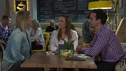 Steph Scully, Amy Williams, Nick Petrides in Neighbours Episode 7680