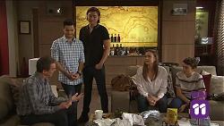 Paul Robinson, David Tanaka, Leo Tanaka, Amy Williams, Jimmy Williams in Neighbours Episode 7681