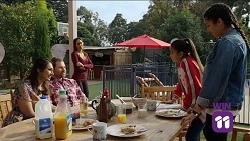 Dipi Rebecchi, Shane Rebecchi, Mishti Sharma, Kirsha Rebecchi, Yashvi Rebecchi in Neighbours Episode 7681