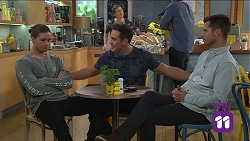 Tyler Brennan, Aaron Brennan, Mark Brennan in Neighbours Episode 7681