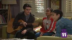 Ben Kirk, Kirsha Rebecchi, Yashvi Rebecchi in Neighbours Episode 7681