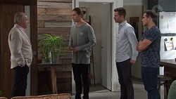 Hamish Roche, Tyler Brennan, Mark Brennan, Aaron Brennan in Neighbours Episode 7682
