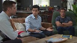 Mark Brennan, David Tanaka, Aaron Brennan in Neighbours Episode 7682