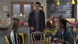 Freya Stone, Ben Kirk, Yashvi Rebecchi in Neighbours Episode 7682