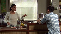 Elly Conway, David Tanaka in Neighbours Episode 7682