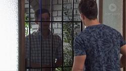 David Tanaka, Aaron Brennan in Neighbours Episode 7682