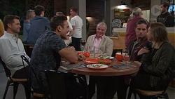 Mark Brennan, Aaron Brennan, Hamish Roche, Tyler Brennan, Piper Willis in Neighbours Episode 7682