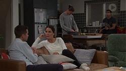 Mark Brennan, Elly Conway, Tyler Brennan, Aaron Brennan in Neighbours Episode 7683