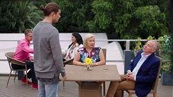 Tyler Brennan, Sheila Canning, Hamish Roche in Neighbours Episode 7683