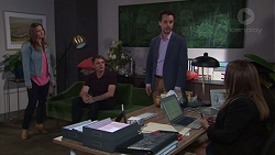 Amy Williams, Gary Canning, Nick Petrides, Terese Willis in Neighbours Episode 7685