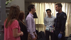 Amy Williams, Terese Willis, Nick Petrides, David Tanaka, Mark Brennan in Neighbours Episode 7685