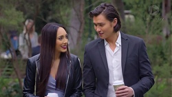 Mishti Sharma, Leo Tanaka in Neighbours Episode 7685