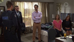 Mark Brennan, Toadie Rebecchi, Nick Petrides, Amy Williams, Terese Willis in Neighbours Episode 7685