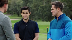 Tyler Brennan, David Tanaka, Aaron Brennan in Neighbours Episode 7688