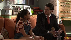 Kirsha Rebecchi, Ben Kirk in Neighbours Episode 7688