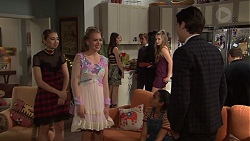 Piper Willis, Xanthe Canning, Freya Stone, Ben Kirk in Neighbours Episode 7688