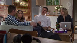 Mark Brennan, Paige Novak, Jack Callaghan, Steph Scully in Neighbours Episode 7688