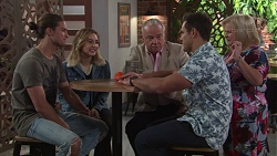 Tyler Brennan, Piper Willis, Hamish Roche, Aaron Brennan, Sheila Canning in Neighbours Episode 7691