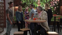 Tyler Brennan, Piper Willis, Sheila Canning, Aaron Brennan, Hamish Roche in Neighbours Episode 7691
