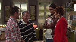 Shane Rebecchi, Karl Kennedy, Dipi Rebecchi, Susan Kennedy in Neighbours Episode 7691
