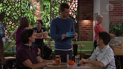 Leo Tanaka, Mark Brennan, David Tanaka in Neighbours Episode 7694