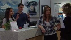 Mishti Sharma, Jack Callahan, Amy Williams, Steph Scully in Neighbours Episode 7695