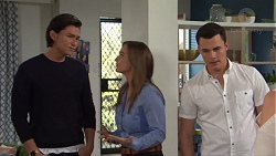Leo Tanaka, Amy Williams, Jack Callaghan in Neighbours Episode 7695