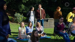 Yashvi Rebecchi, Shane Rebecchi, Xanthe Canning, Amy Williams, Mishti Sharma in Neighbours Episode 7695