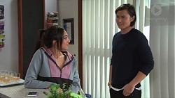 Mishti Sharma, Leo Tanaka in Neighbours Episode 7696
