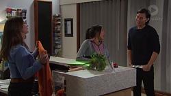 Amy Williams, Mishti Sharma, Leo Tanaka in Neighbours Episode 7696