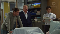Tyler Brennan, Hamish Roche, David Tanaka in Neighbours Episode 7697