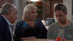 Hamish Roche, Sheila Canning, Tyler Brennan in Neighbours Episode 7698