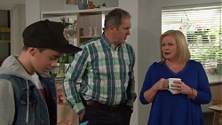 Jimmy Williams, Karl Kennedy, Sheila Canning in Neighbours Episode 7699