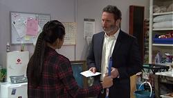 Yashvi Rebecchi, Dale Osmond in Neighbours Episode 7699