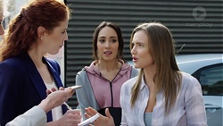 Jennifer Loh, Mishti Sharma, Amy Williams in Neighbours Episode 7699