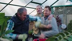 Karl Kennedy, Toadie Rebecchi, Shane Rebecchi in Neighbours Episode 7700