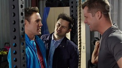 Aaron Brennan, David Tanaka, Mark Brennan in Neighbours Episode 7700