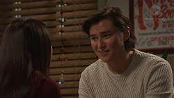 Mishti Sharma, Leo Tanaka in Neighbours Episode 7702