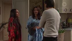 Mishti Sharma, Dipi Rebecchi, Leo Tanaka in Neighbours Episode 7702