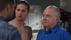 Mark Brennan, Tyler Brennan, Hamish Roche in Neighbours Episode 7702
