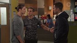 Tyler Brennan, Aaron Brennan, Mark Brennan in Neighbours Episode 7704